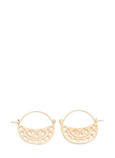 Tribal Cut-Out Hoop Earrings