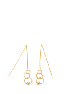 Three-Ring Pull-Through Bar Earrings