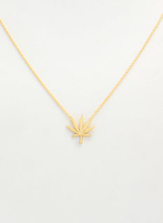Handmade Cannabis Leaf Charm Necklace