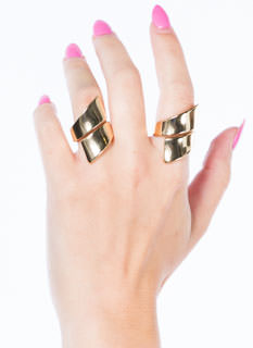 Metallic Wrapped Ring Set