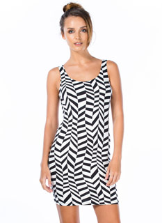 Leave It 2 Geo Print Bodycon Dress