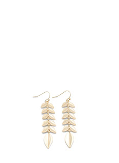 Textured Dangling Leaves Earrings