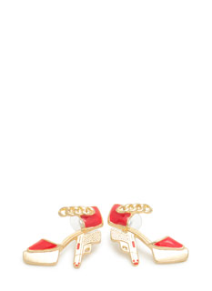Platform Pistol Heel Earrings