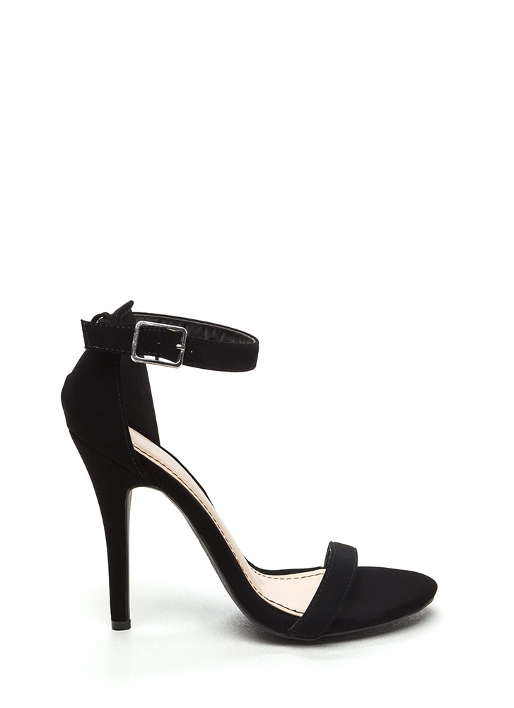 Singled Out Faux Nubuck Heels