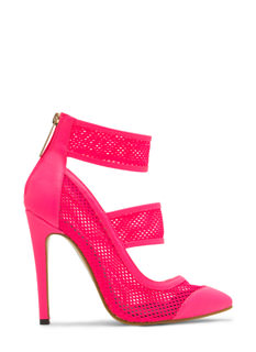 Quit Meshing Strappy Heels