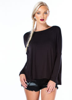 Big Picture Long-Sleeved Dolman Top