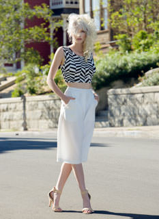 Textured Pleated Culottes