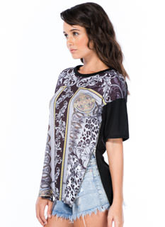 Fierce Filigree Double Zipper Tee