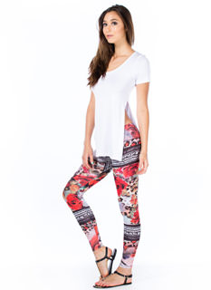 In The Mix Floral Animal Leggings