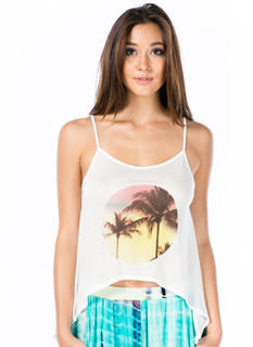 Dusk 'Til Dawn Palm Tree Swing Tank