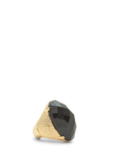 Oversized Faux Gem Textured Ring