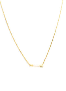Dainty Metallic Arrow Necklace