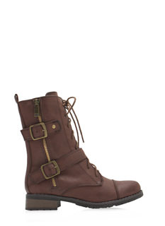 Urban Jungle Buckled Combat Boots