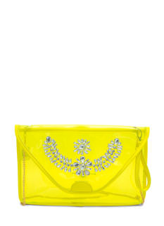 Bejeweled PVC Envelope Clutch