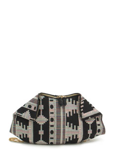 Woven Folded Corners Tribal Clutch