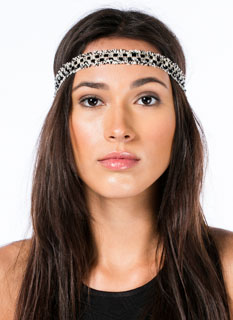 Woven Checkered Fringed Headband
