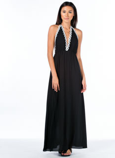 Miss Daisy Chain Halter Maxi Dress