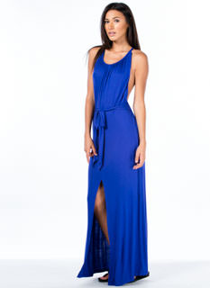 Certified Goddess Slit Maxi Dress