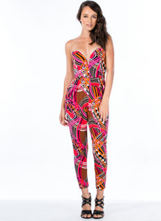 Line 'N Dot Printed Jumpsuit