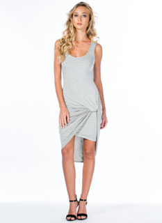 Knotty Feeling Draped Dress