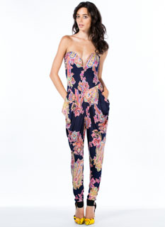 Princess Of Paisley Strapless Jumpsuit
