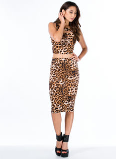 Animal Instinct Leopard Pencil Skirt
