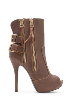 Right Angle Faux Suede Ankle Booties