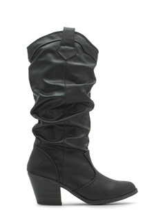 Do Slouch Chunky Distressed Boots