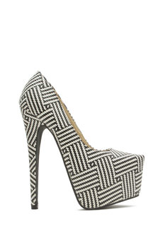 Zigzag...You're It! Platform Heels