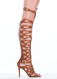 All Looped Up Strappy Gladiator Heels