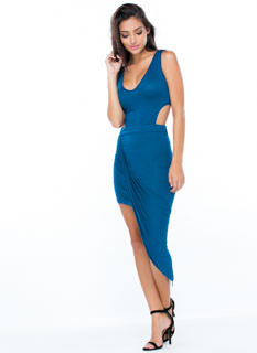 Drape Up Asymmetrical Dress