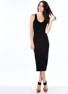 Solid Ground Racerback Midi Tank Dress