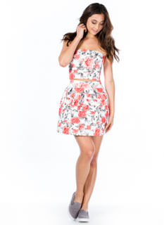 Need A Bandage Floral Skater Skirt