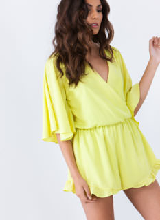 Ruffle Up Surplice Romper