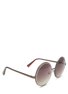 Round Metallic Wire Frame Sunglasses