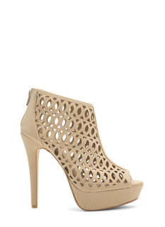 See You Lattice Laser Cut-Out Heels