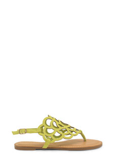 Power Of Flowers Laser Cut-Out Sandals