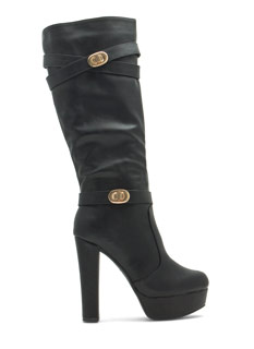 Double Twist Lock Platform Boots