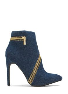 Zip To It Pointy Toe Booties