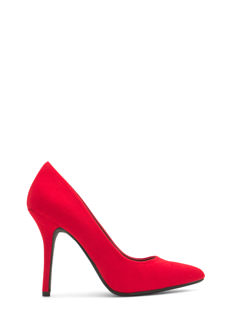 Jumping-Off Point Faux Suede Heels