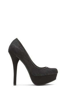 Lace Stay Together Platform Heels