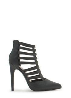 Ladder Of Success Caged Pointy Heels