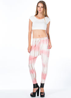 Grid Locked Tie-Dye Harem Pants
