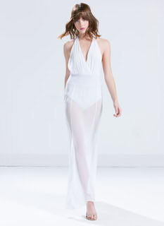 Sheer Vision Halter Maxi Dress