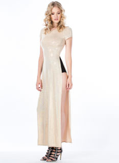 Jane 'N The Hologram Double Slit Maxi Dress