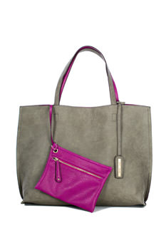 Street Level Two-Tone Reversible Tote Bag