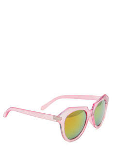 Angled Look Mirrored Sunglasses