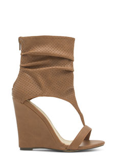 Get The Boot Perforated Slouchy Wedges