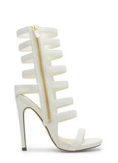 Give The Shaft Strappy Cut-Out Heels