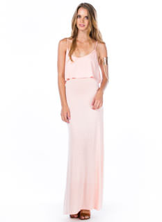 Tier-ly Beloved Strappy Maxi Dress